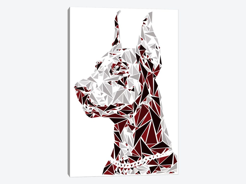 Doberman by Cristian Mielu 1-piece Canvas Print