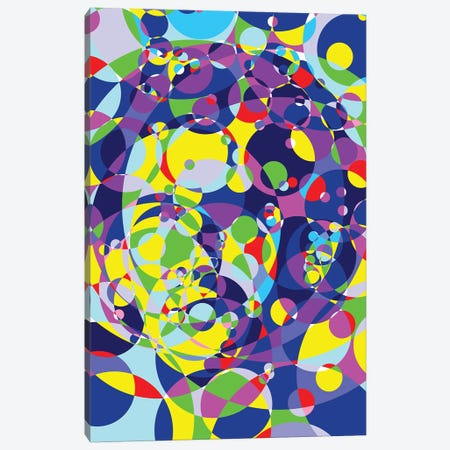 Ayrton Colored Circles Canvas Print #MIE190} by Cristian Mielu Canvas Art
