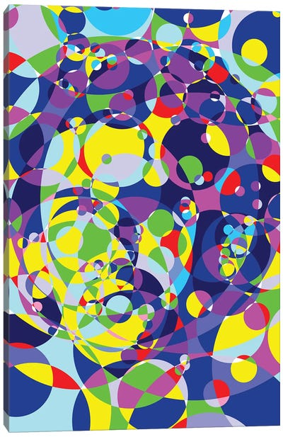 Ayrton Colored Circles Canvas Art Print