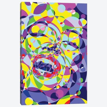 Marilyn Monroe Circles Canvas Print #MIE191} by Cristian Mielu Canvas Art