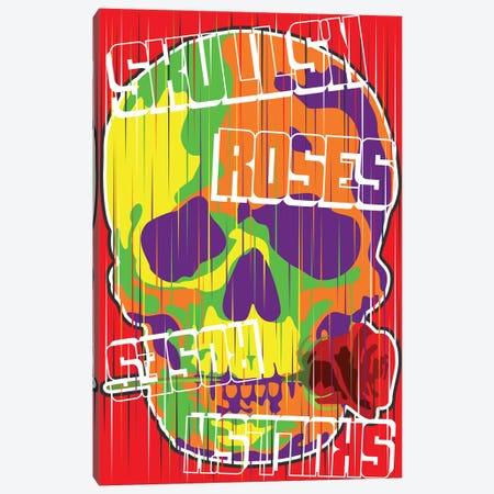 Skulls N Roses Canvas Print #MIE193} by Cristian Mielu Canvas Art