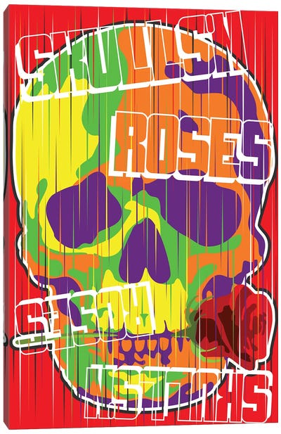Skulls N Roses Canvas Art Print