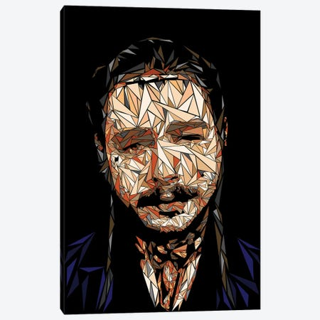Post Malone Canvas Print #MIE199} by Cristian Mielu Canvas Art