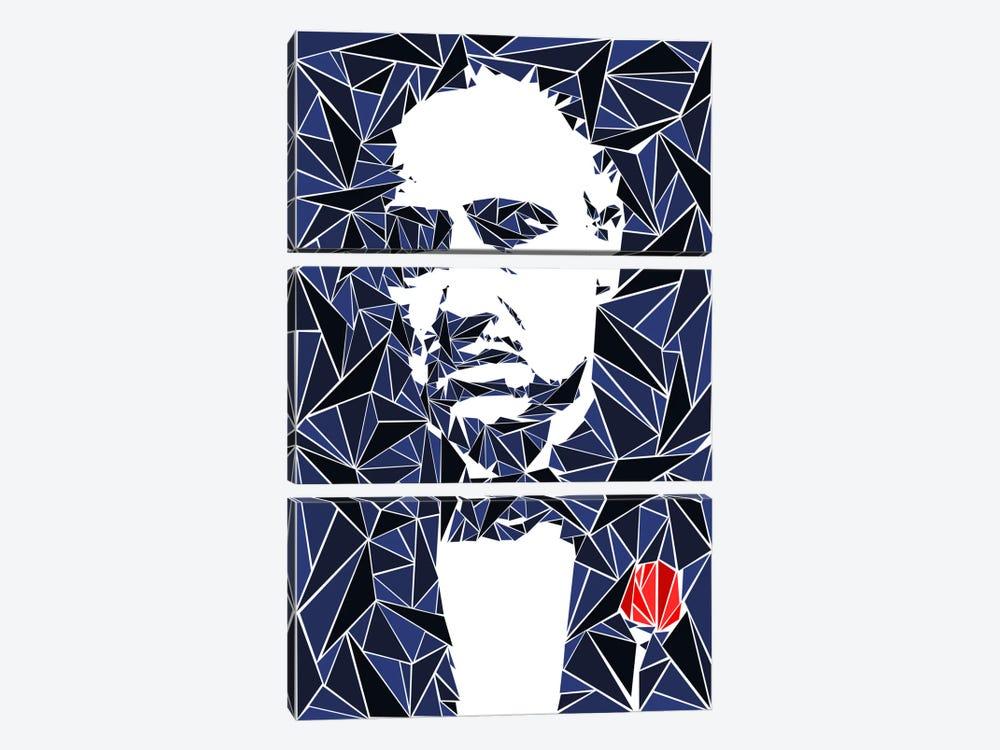 Don Vito Corleone I by Cristian Mielu 3-piece Canvas Art