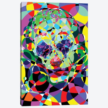 Joker - Negative Thoughts Canvas Print #MIE205} by Cristian Mielu Canvas Print