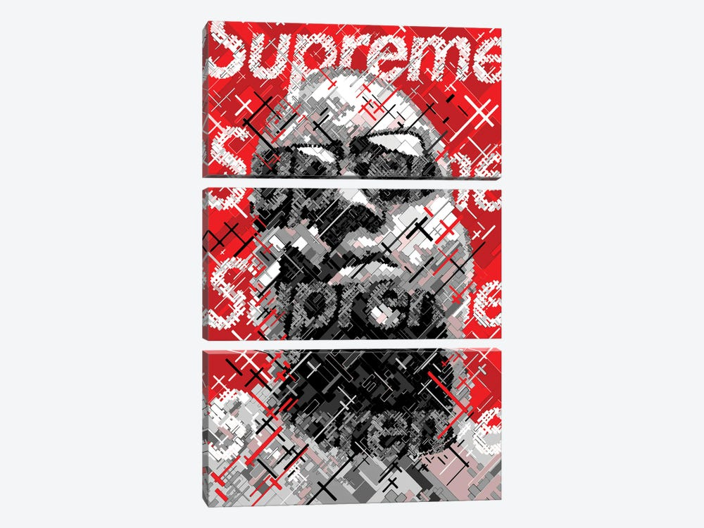 Big Supreme by Cristian Mielu 3-piece Canvas Art