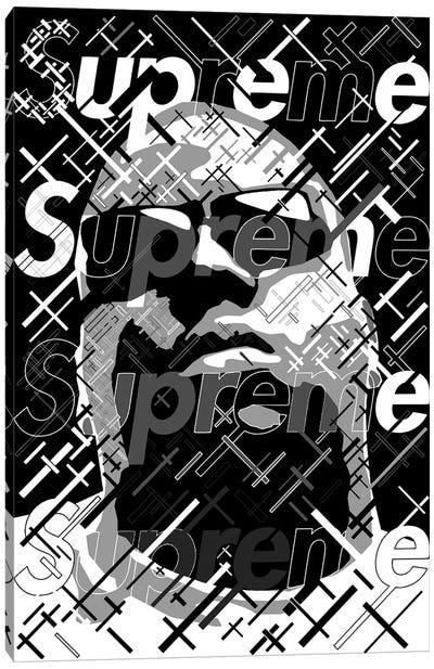 Big Supreme Black&White Canvas Art Print