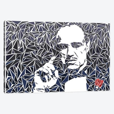 Don Vito Corleone II Canvas Print #MIE20} by Cristian Mielu Canvas Print