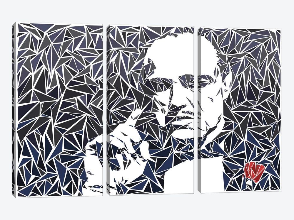 Don Vito Corleone II by Cristian Mielu 3-piece Canvas Artwork