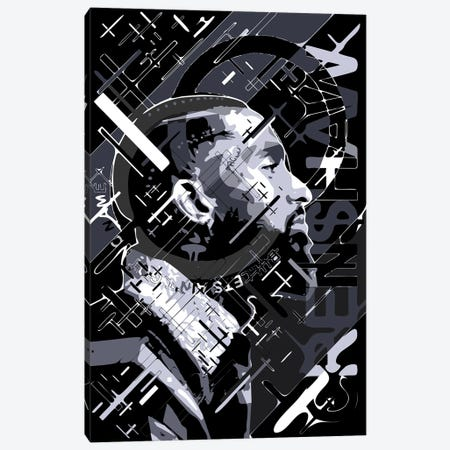 Nipsey 85 Canvas Print #MIE217} by Cristian Mielu Canvas Art