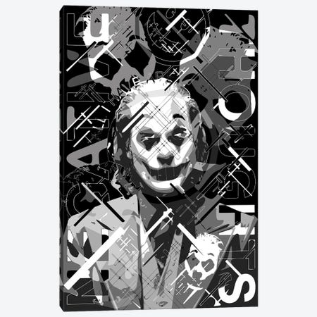 Joker All I Have... Canvas Print #MIE220} by Cristian Mielu Canvas Artwork