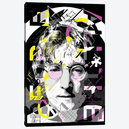 Lennon - Imagine Canvas Print #MIE222} by Cristian Mielu Canvas Artwork