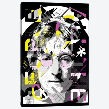 Lennon - Imagine Canvas Print #MIE222} by Cristian Mielu Canvas Artwork
