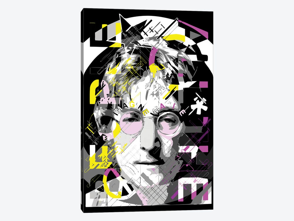 Lennon - Imagine by Cristian Mielu 1-piece Canvas Artwork