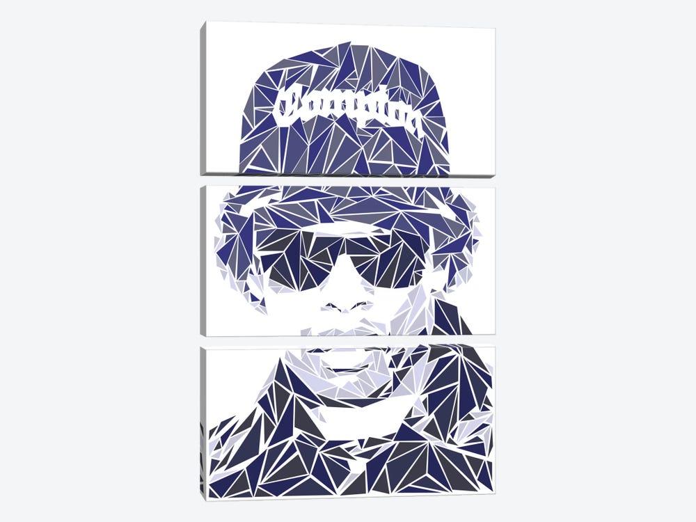 Eazy-E by Cristian Mielu 3-piece Canvas Wall Art