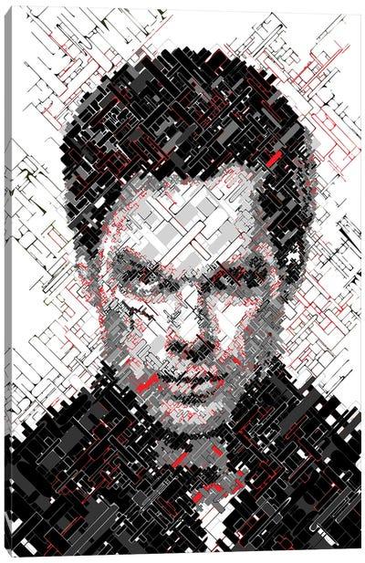 Dexter - Tones of Grey and Blood Canvas Art Print