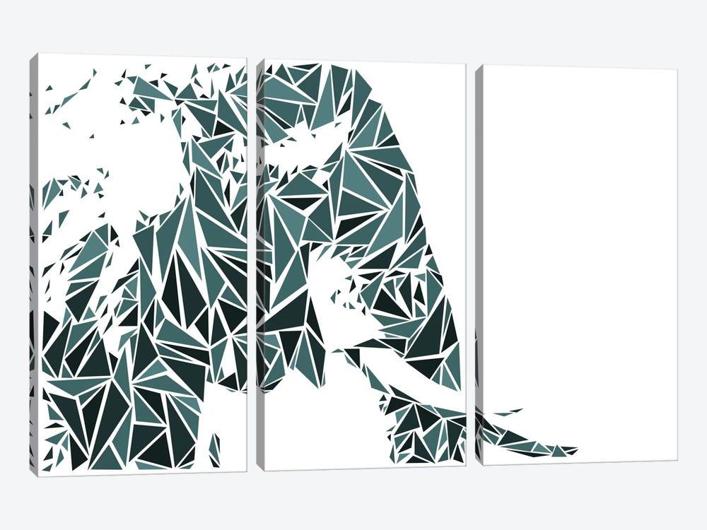 Elephant by Cristian Mielu 3-piece Canvas Art Print
