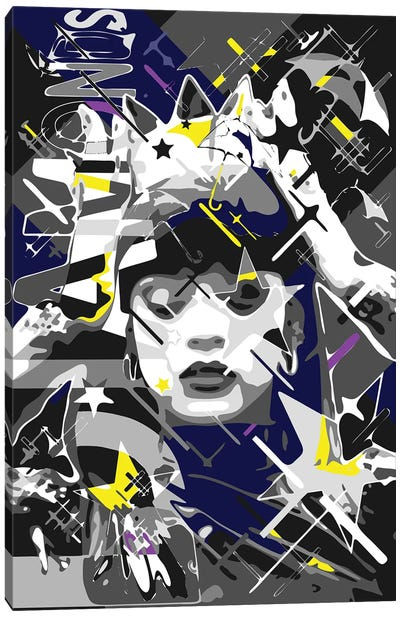 Rihanna Crowned Canvas Art Print