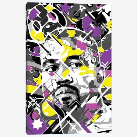 Kanye Canvas Print #MIE268} by Cristian Mielu Canvas Art