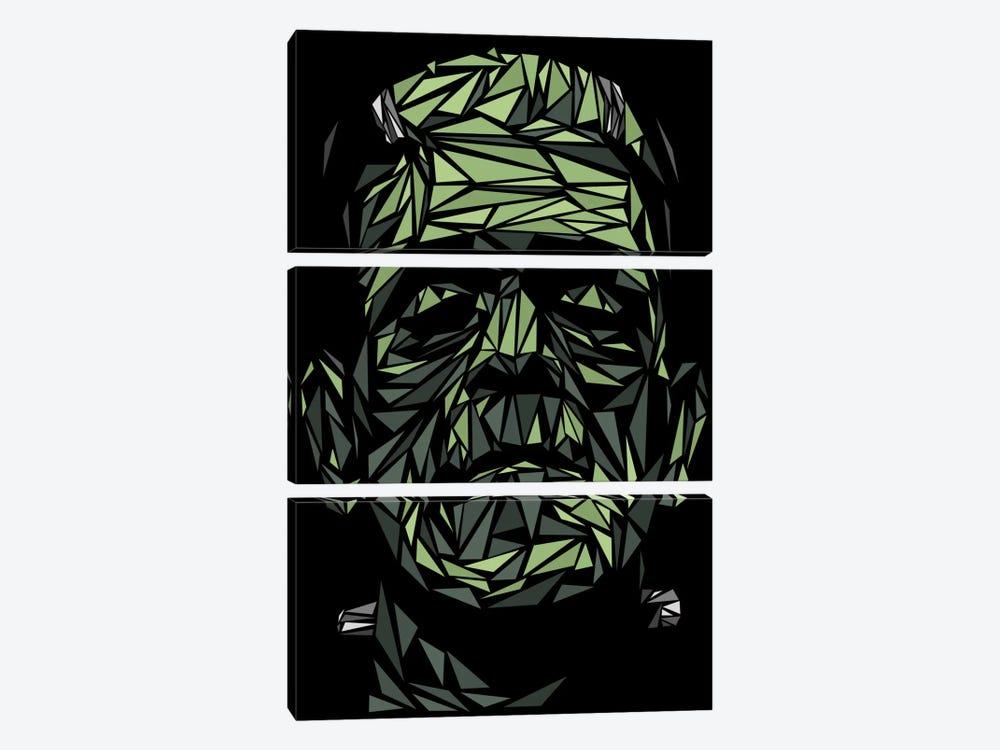 Frankenstein by Cristian Mielu 3-piece Canvas Artwork