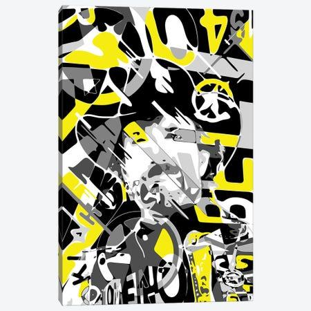 Chuck Norris Canvas Print #MIE281} by Cristian Mielu Canvas Wall Art