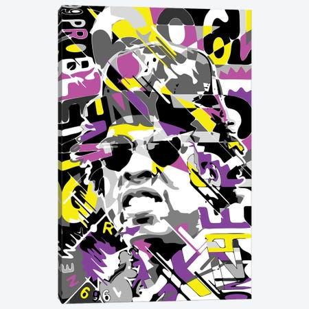 Jay-Z Canvas Print #MIE282} by Cristian Mielu Canvas Artwork