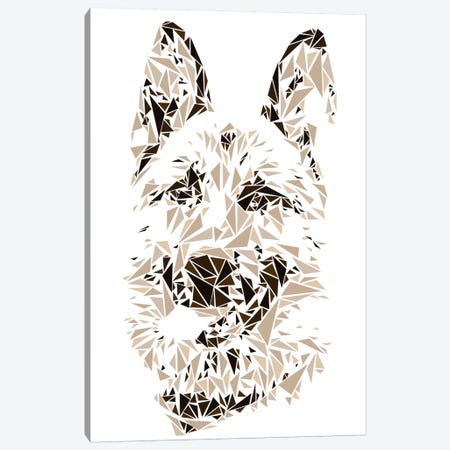 German Shepherd Canvas Print #MIE28} by Cristian Mielu Art Print