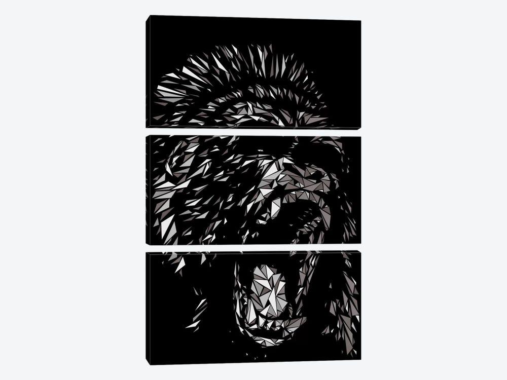 Gorilla by Cristian Mielu 3-piece Canvas Print