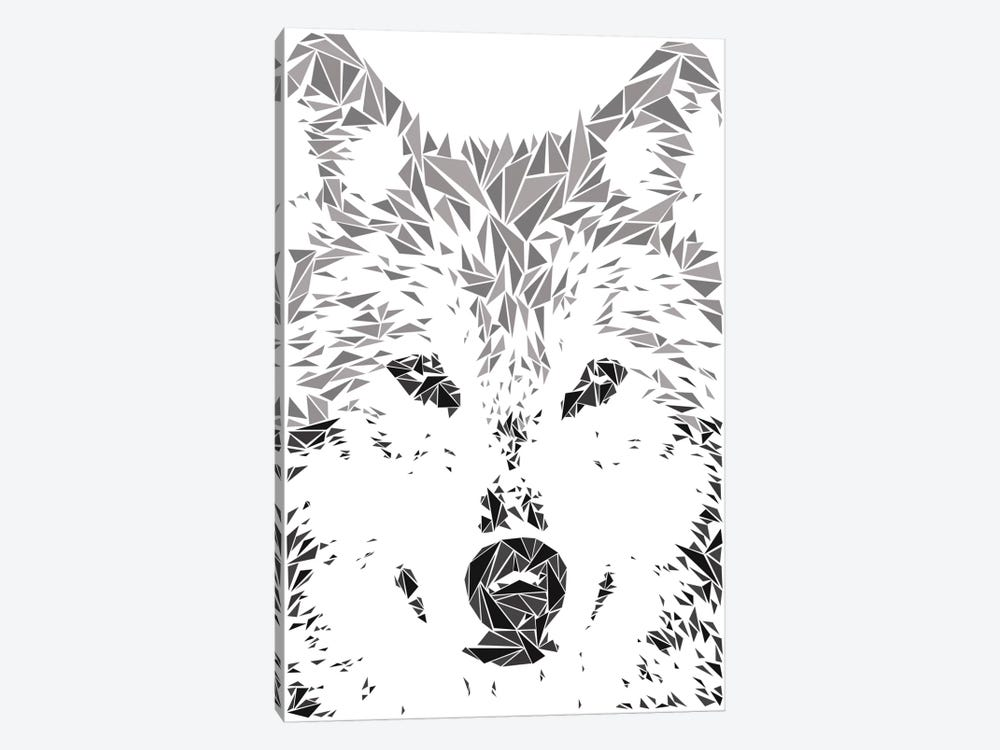 Gray Wolf by Cristian Mielu 1-piece Canvas Wall Art