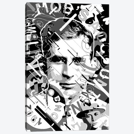 Meyer Lansky Canvas Print #MIE324} by Cristian Mielu Canvas Wall Art