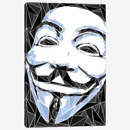 Guy Fawkes I Canvas Print #MIE33} by Cristian Mielu Canvas Wall Art