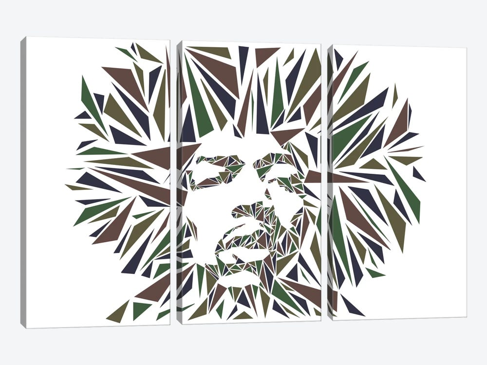 Jimi Hendrix I by Cristian Mielu 3-piece Art Print