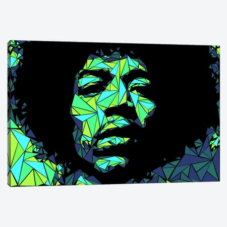 Jimi Hendrix II Canvas Print #MIE39} by Cristian Mielu Canvas Artwork