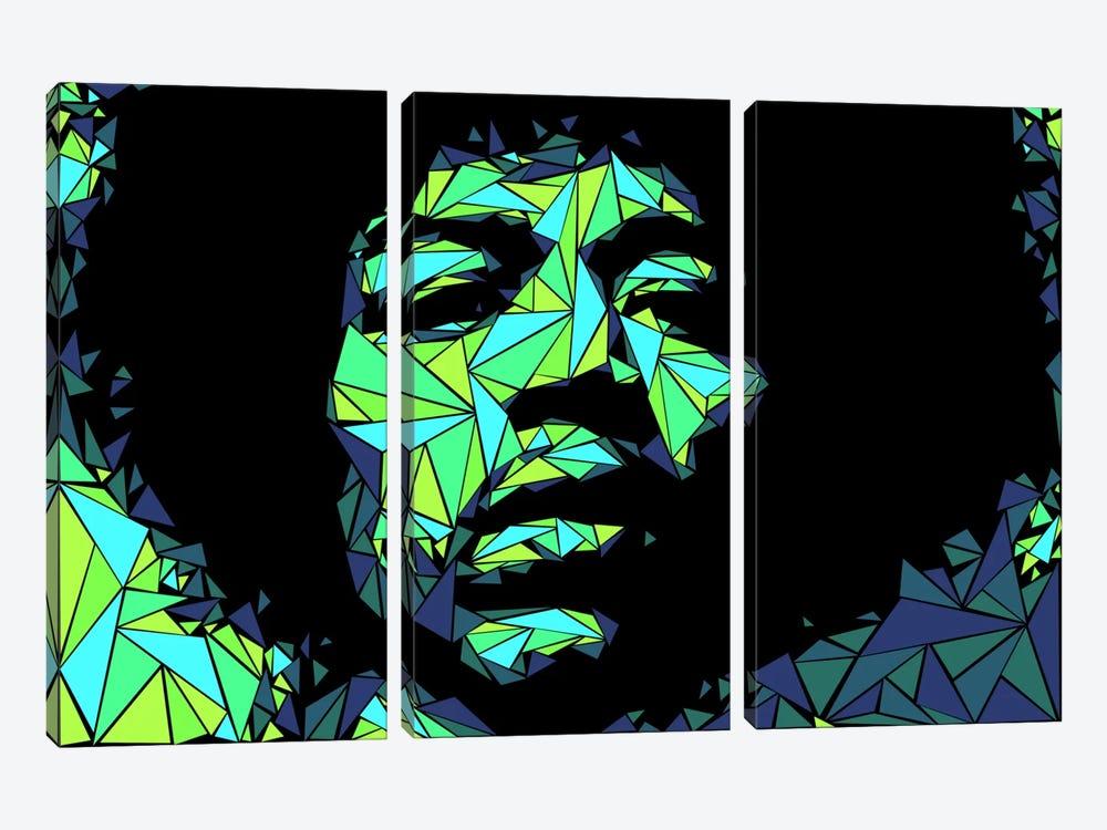 Jimi Hendrix II by Cristian Mielu 3-piece Canvas Art
