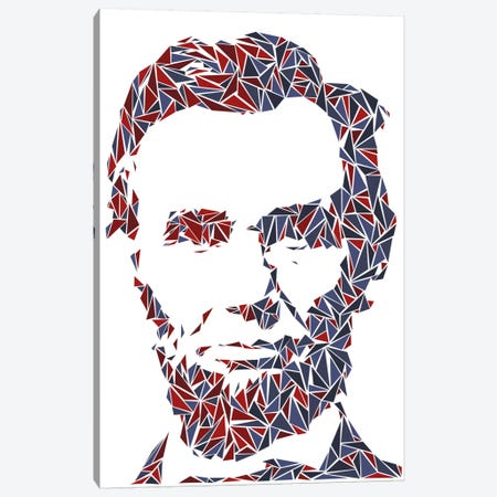 Abraham Lincoln I Canvas Print #MIE3} by Cristian Mielu Canvas Artwork