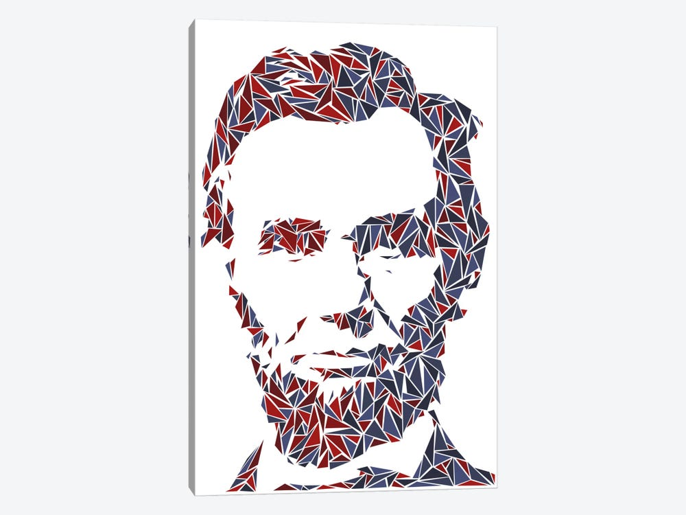 Abraham Lincoln I by Cristian Mielu 1-piece Canvas Artwork