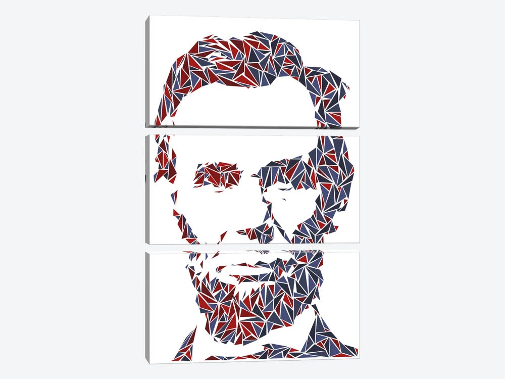Abraham Lincoln I 3-piece Canvas Wall Art