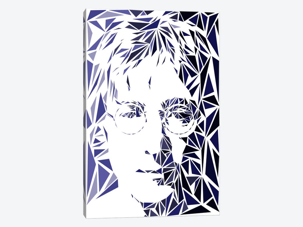 John Lennon by Cristian Mielu 1-piece Canvas Art Print