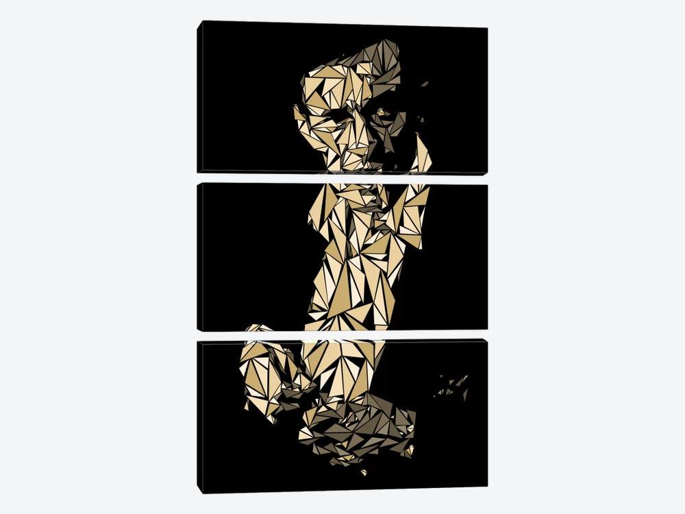 Johnny Cash by Cristian Mielu 3-piece Canvas Artwork