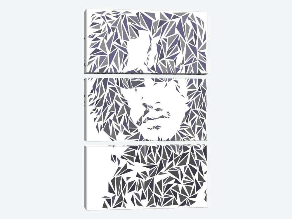 Jon Snow by Cristian Mielu 3-piece Canvas Art Print