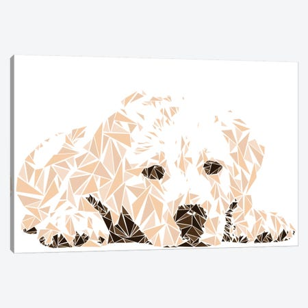 Labrador Puppy Canvas Print #MIE46} by Cristian Mielu Canvas Artwork