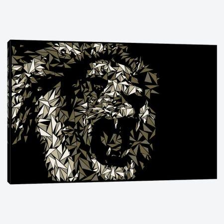 Lion Canvas Print #MIE47} by Cristian Mielu Canvas Wall Art