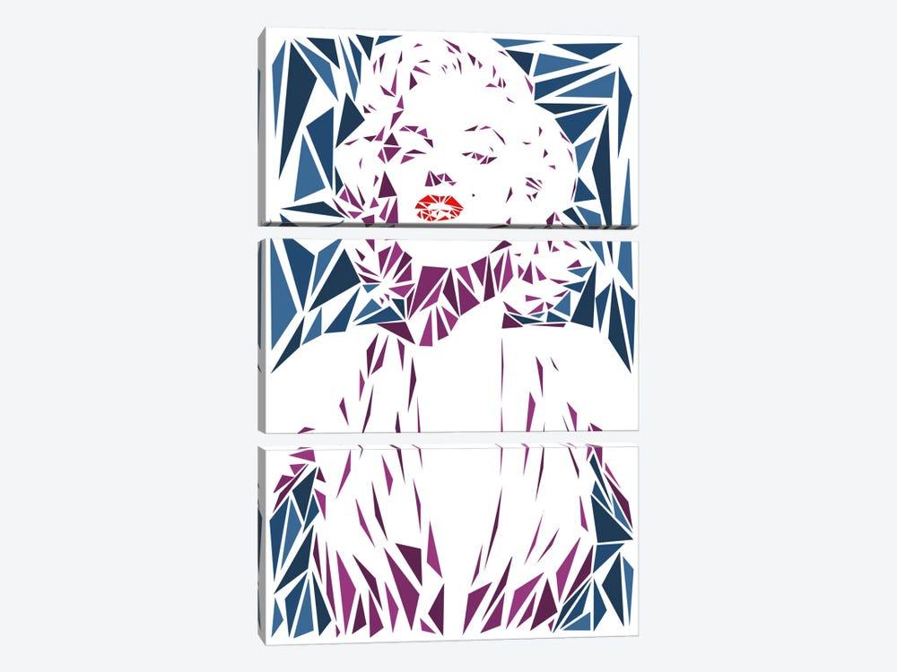 Marilyn Monroe II by Cristian Mielu 3-piece Canvas Wall Art
