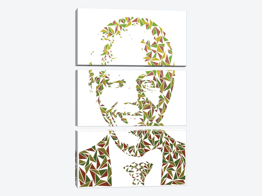 Nelson Mandela 3-piece Canvas Print