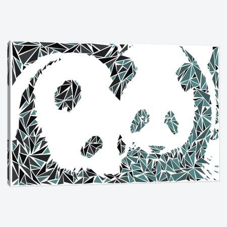 Panda Couple Canvas Print #MIE59} by Cristian Mielu Canvas Wall Art