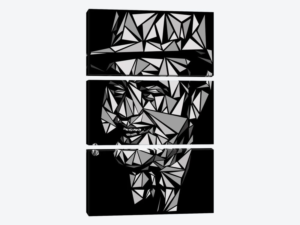 Al Capone II by Cristian Mielu 3-piece Canvas Art
