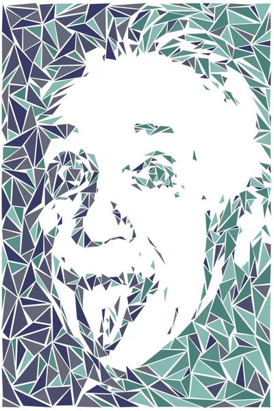 Albert Einstein Canvas Wall Art by Cristian Mielu | iCanvas