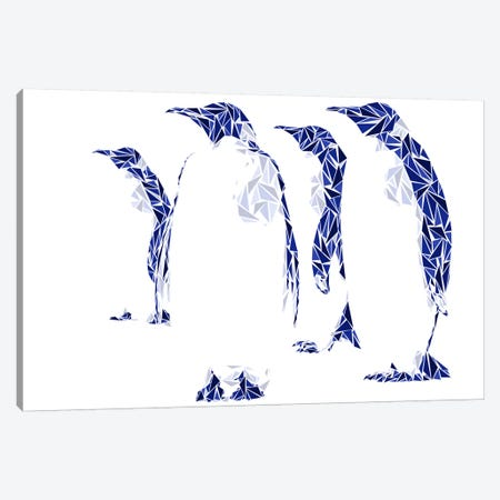 Penguins Canvas Print #MIE60} by Cristian Mielu Canvas Art Print