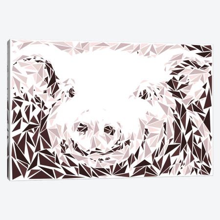 Pink Pig Canvas Print #MIE61} by Cristian Mielu Canvas Print