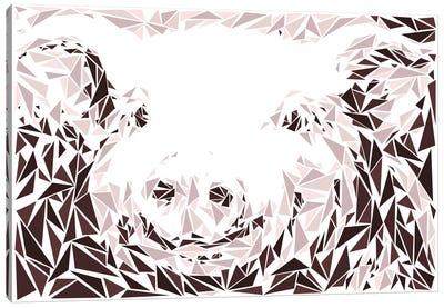 Pink Pig Canvas Print #MIE61